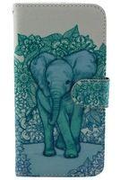 phone6 Plus blue elephant Pattern Leather Case for Apple Iphone 6 Plus Iphone6 Plus Protective Case Phone Bag Back Cover