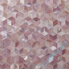 Natural Pink Diamond Mother Of Pearl Mosaic Tiles
