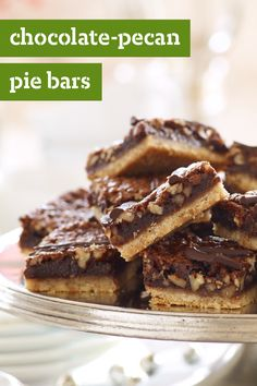 Chocolate-Pecan Pie Bars – Check out this dessert recipe for over-the-top scrumptious flavor! Serve and wow a whole crowd with these unbelievably tasty sweet treats.