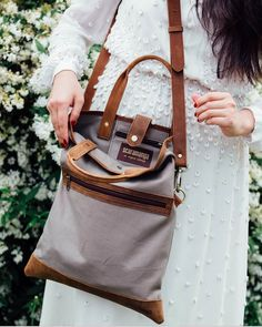 Canvas and Leather Foldover Bag from Scaramanga's collection of new Summer 2018 bag. Canvas Bags, Canvas Handbags, Shopper Tote, Tote Bag, Foldover Bag, Weekend Travel Bag, Bags 2018, Canvas Shoulder Bag, Canvas Backpack