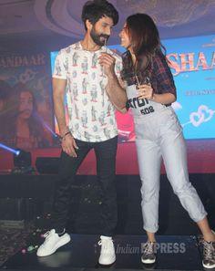 'Shaandaar' couple Shahid Kapoor, Alia Bhatt dance to 'Gulaabo' at launch Shahid Kapoor, Song One, Alia Bhatt, Handsome, Product Launch, Entertainment, Dance, Songs, Bollywood Fashion