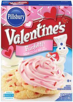 Valentine's Funfetti Sugar Cookie Mix, Pillsbury, General Mills, Inc. One General Mills Boulevard Golden Valley, Minnesota, U.S. and the J.M. Smucker Company, Orrville, Ohio, United States.