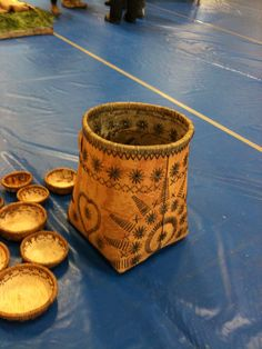 BEAUTIFUL NATIVE BIRCH BASKET