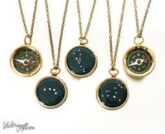 These zodiac constellations with a working compass: | 29 Celestial Accessories You'll Be Over-The-Moon For