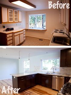 Kitchen Renovation Before and After @wolfbuilding