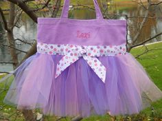 Embroidered Tote Bag Naptime 21  Dance Bag by naptime21 on Etsy