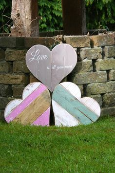 Pallet Wooden Heart by AnniesFarmhouseCraft on Etsy