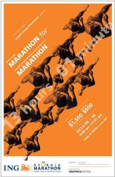 marathon poster design - Google Search