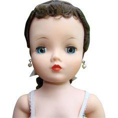 Madame Alexander Cissy Doll Gorgeous Brunette in Chemise 1950s Pristine