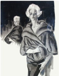 1961 Ink Wash by Geneva Limpus - my mother