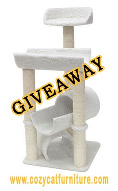 Enter to #win this Fancy Kitty Cat Tower ($98ARV)! US 1/17 #giveaway