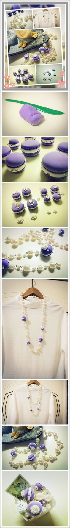 芋頭macaroon!! Enjoy ^^ Fanpage: @Sallee Ebbett Tutor 莎莉。品味儷人 分享link: http://siusally.blogspot.hk/2014/04/salleeejewelry-taro-macaroon-charity.html?m=1