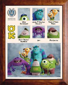 OMEGA KREISCHMA (OK) In dieser Studentenvereinigung haben sich die Außenseiter der Monster Uni zusammengetan. Sie sind freundliche Monster, die leider aus dem Erschrecker-Studiengang geflogen sind. Obwohl es den Omega Kreischmas an Schrecklichkeit fehlt, sind sie doch mit ganzem Herzen dabei. #DieMonsterUni ©Disney•Pixar