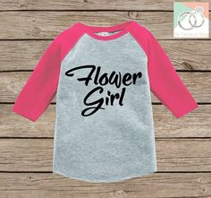 Flower Girl Outfit - Simple Flower Girl T-shirt Girls - Pink Raglan Tee or Onepiece - Will you be my Flowergirl - Novelty Flower Girl Gift