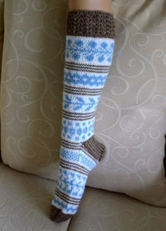Thick Socks, Knitting Socks, Leg Warmers, Mittens, Knit Crochet, Knitting Patterns, Wool, My Style, Handmade