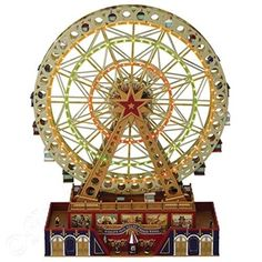 Bring holiday cheer to your home with this Mr Christmas World Fair Grand Ferris Wheel Table Decor. Christmas World, Mr Christmas, Christmas Stuff, Christmas Train, Xmas, Indoor Christmas Decorations, Christmas Themes, Holiday Ornaments, Holiday Ideas