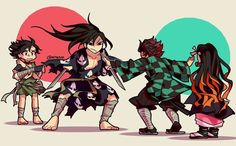 Read Kimetsu No Yaiba / Demon slayer full Manga chapters in English online! Chibi, Anime Demon, Otaku Anime, Slayer Anime, Demon, Anime Crossover, Cartoon, Fan Art, Manga