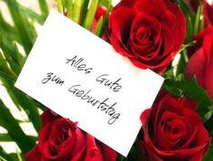 Hübsche Rosen: Alles Gute zum Geburtstag #alles_gute_zum_geburtstag #geburtstag #geburtstags #grussegrusskarten