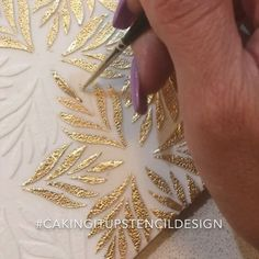 Diy Crafts - cakingitupstencildesigns,cakingitup-Sneak peek at another stencil design comingsoon cakingitupstencildesigns… Zardozi Embroidery, Hand Embroidery Dress, Embroidery Neck Designs, Hand Embroidery Videos, Embroidery Fabric, Embroidery Fashion, Beaded Embroidery, Embroidery Patterns, Embroidery Stitches