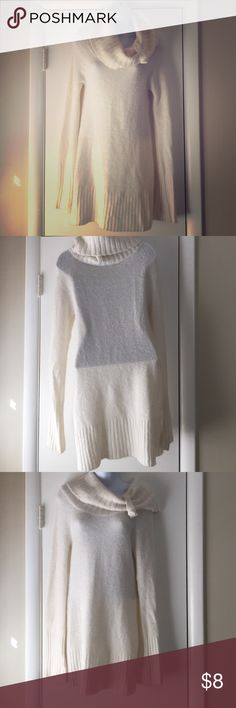 Cowl neck off white sweatershirt Dots-Cowl neck sweater-shirt perfect for Fall weather! Dots Sweaters Cowl & Turtlenecks