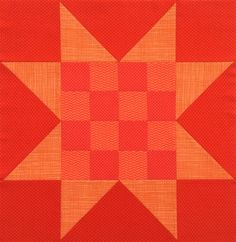 Sawtooth Star quilt block with 16-patch center