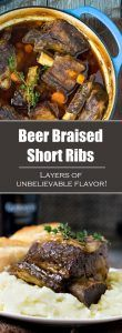 Beer Braised Short Ribs - Dutch Oven