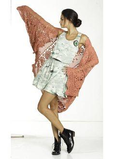 Mes Demoiselles Paris, Gilet Crochet, Pull, Kimono Top, Bohemian, Couture, 2013, Knitting, Shawls