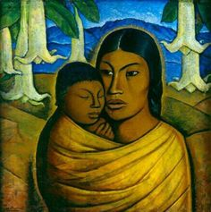Artist Name: Alfredo Ramos Martinez  Title: Madre India  Date: c.1920s