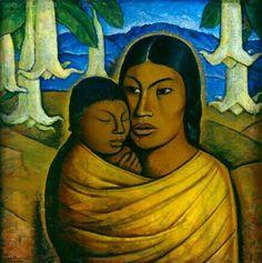Artist Name: Alfredo Ramos Martinez  Title: Madre India  Date: c.1920s