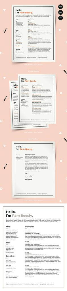 Resume / CV Top 3 Selling Resume Templates by Awesome Graphic - google docs resume templates