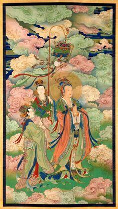 Goddess Bodhiruma ca. 1740.  Chinese, Qing dynasty, Qianlong period 1736-1795  [VMFA]