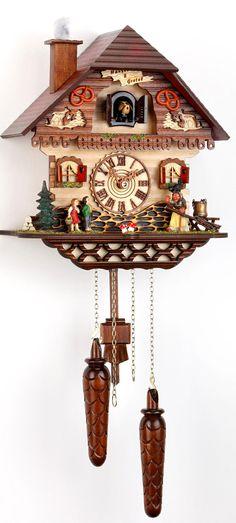Original Schwarzwald-Kuckucksuhr-Hansel and Gretel Witch house-Cuckoo Clock-handmade Germany Black Forest