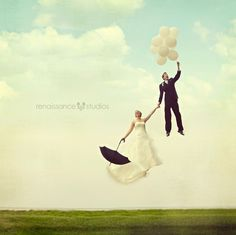 Wedding Photography Ideas : Magical Wedding Photography! the collaboration of Up! & Mary Poppins.