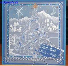 Christmas Tree and Snow Scene Groovi card created by Gaby Kimmle