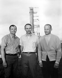 Three regular guys, ready to walk on the moon.