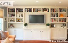 Idea for entertainment/bookcase in our family room