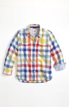 Mini Boden 'Everyday' Woven Shirt (Toddler, Little Boys & Big Boys) available at Nordstrom