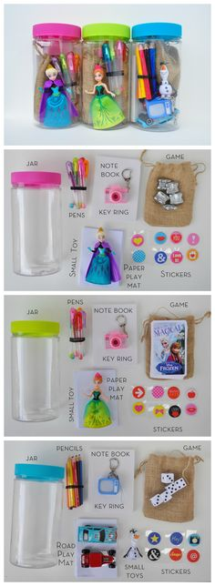 Birthday gifts in a jar for kids