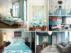 Aqua Bedroom Decor Lovely From Navy to Aqua Summer Decor In Shades Of Blue Aqua Bedroom Decor, Aqua Bedrooms, Aqua Decor, Colorful Decor, Beach Inspired Bedroom, Turquoise Room, Room Inspiration, Design Inspiration, New Homes