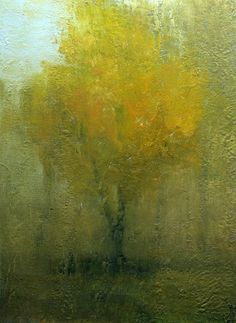 Rainy Day At The Park, Oil painting on canvas panel - The Art of Zan Barrage.