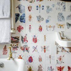 New diy bathroom wall decor kitchen backsplash 28 Ideas Home Design, Decor Interior Design, Wall Design, Interior Decorating, Design Ideas, Wallpaper Collage, Diy Wallpaper, Collage Walls, Floor Planner