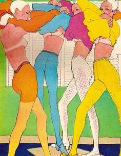 Illustration by Antonio Lopez, 1960s. S) https://www.facebook.com/pages/EXPONLINE/141220162699654