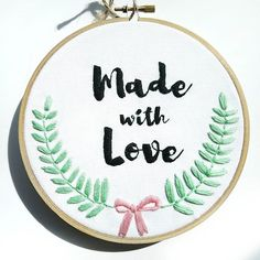 Handmade is made with love. Embroidery