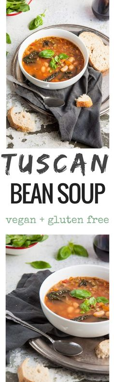 This hearty Tuscan bean soup is so warming and nourishing. It's sure to cure whatever ails you! Serve with your favourite crusty bread. via @deliciouseveryday