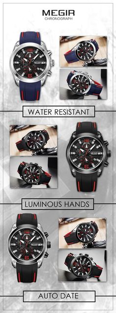 the Megir 2063G luxury sport watch - Men's watches - Men's top brand luxury fashion sport watch chronograph timepieces affordable accessories for you!  #sportwatch #menswatch #watches #menswear