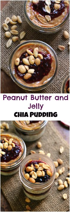 Everyone\u2019s favorite sandwich get chia-fied! This peanut butter and jelly chia pudding hits the PB