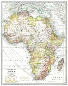 National Geographic Map of Africa (1909)