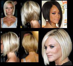 Short Choppy Hair, Short Hair Styles, New Haircuts, Bob Hairstyles, Hair Bobs, Graduated Bob, Blonde Women, Hair Ideas, Wednesday