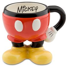 New Disney World Mickey Mouse Body Parts Ceramic Mug Cup Coffee Tea Cocoa Cozinha Do Mickey Mouse, Mickey Mouse Mug, Mickey Mouse Kitchen, Disney Coffee Mugs, Cute Coffee Mugs, Cool Mugs, Coffee Cups, Coffee Coffee, Disney Tassen