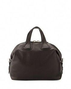 da156c38e3e Nightingale Medium Waxy Leather Satchel Bag, Black by Givenchy at Neiman  Marcus.